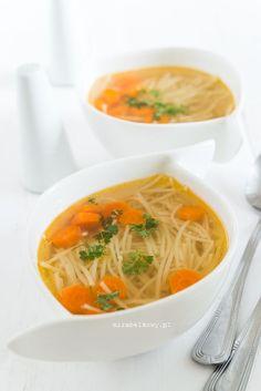 Mirabelkowy blog: Rosół na kościach z pieczonego kurczaka Thai Red Curry, Yummy Food, Ethnic Recipes, Blog, Delicious Food, Blogging