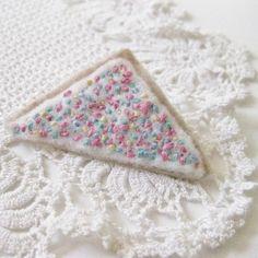 fairy bread brooch - that's killer!