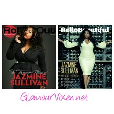 Jazmine Sullivan Covers RollingOut  and Hello Beautiful Magazine issues.
