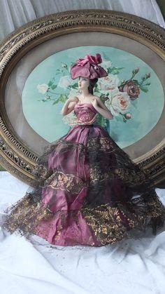Antique French boudoir item vintage half by GabriellesGrandson