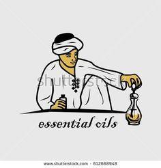 an Arabic man make a perfume