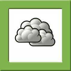 Weerkaartjes Pompom, wolken