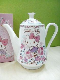 Sanrio Hello Kitty Bone China Alto Juego De Té Tetera Con Filtro Regalo Box Set Nuevo | Objetos de colección, Cocina y hogar, Vajilla | eBay!