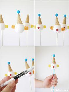 How to make clown cake pops