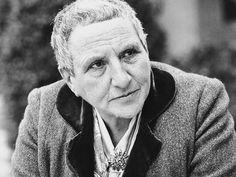 Gertrude Stein – writer, lesbian, American ex-patriate who spent the majority of her  days in Paris with her lover of 40 years, Alice B. Toklas.