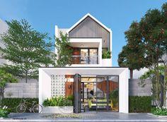 New exterior renovation modern architecture ideas Small House Design, Modern House Design, Modern Shop, Facade Design, Exterior Design, Entrada Frontal, Narrow House, Home Building Design, Box Houses