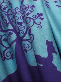 Kokadi Ela In Wonderland - this is such a fun fabric, mainly seen in a brighter blue and pink but I prefer this darker version.