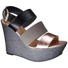 7c51d99e4ab Women s Mossimo Supply Co. Winda Wooden Wedge Sandal - Black Quick  Information