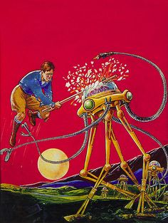 The Most Beautiful Pulp Magazine Cover Art We've Ever Seen Pulp Magazine, Magazine Art, Science Fiction Art, Pulp Fiction, Fiction Books, Pulp Art, Illustrations, Book Illustration, Sci Fi Art