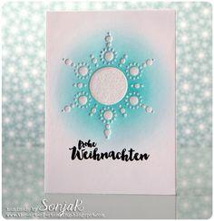 "Weihnachtskarte   Christmas card, Holiday card - Create A Smile Stamps ""Snowdance Kit"", danipeuss/Klartext ""Warme Grüße"", Distress Ink"