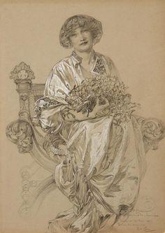 Alfons Mucha Bildnis der Madame Deschamps 1903 - Alphonse Mucha - Wikipedia, the free encyclopedia