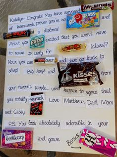 graduation candy poems - Google Search