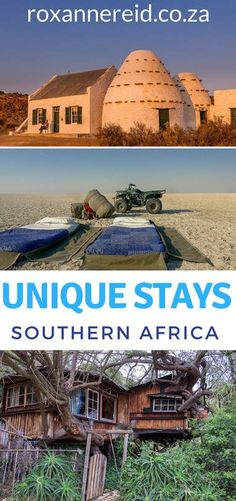 Looking for something unusual in the way of accommodation in Southern Africa? Check out at these 10 unique stays, from a jail to a treehouse, a cave to a starbed and more. Unique stays in Namibia, Unusual places to stay, Unique stays in South Africa, Unique stays in Botswana #travel #africa #uniquestays