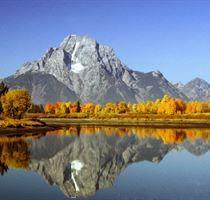Mt. Moran Reflection at Oxbow Bend - Grand Teton National Park