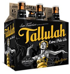 Speakeasy Ales & Lagers Tallulah Extra Pale Ale 12oz. 6-pack -designed by Emrich Office