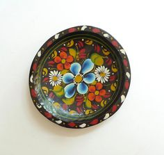 Vintage Hand Painted Mexican Batea or Tole Tray by BYBEEVINTAGE