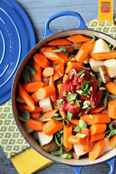 Portuguese stove-top  Pork Roast Recipe #SundaySupper