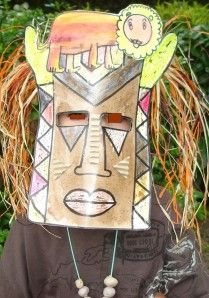 masque africain carnaval maternelle