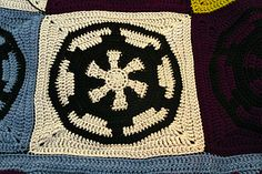 .Star Wars Imperial Granny Square - free crochet pattern