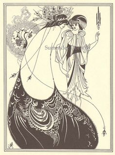 Peacock Skirt Aubrey Beardsly Print by SurrendrDorothy, via Flickr