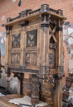 Shop Cabinets, Storage Cabinets, Vintage Furniture, Diy Furniture, Woodworking Plans, Woodworking Projects, Rustic Farmhouse Furniture, Ethno Style, Vintage Artwork