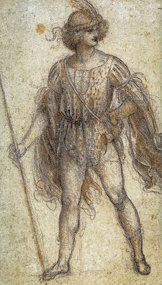 Leonardo da Vinci - A Masquerader, 1518 - Queen's Royal Art Collection Windsor Castle England