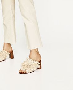 HIGH HEEL MULES WITH POMPOMS-Heeled sandals-SHOES-WOMAN | ZARA United States