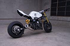 Small Wonders: The Insane Honda Groms of MAD Industries and ComposiMo Honda Grom Custom, Custom Moped, Custom Bikes, Concept Motorcycles, Honda Motorcycles, Custom Motorcycles, Honda Bikes, Stunt Bike, Motorbike Design