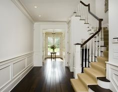 white craftsman house | ... home interior's contrasting dark wood and painted white finishes