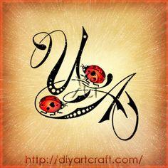 #ladybug #monogram UA #tattoo