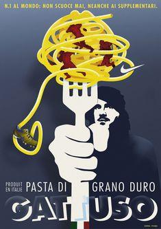 Soccer Player Gattuso advertising for pasta