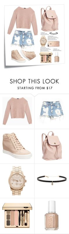 """""""Untitled #21"""" by mayarr ❤ liked on Polyvore featuring Post-It, Max&Co., Furst of a Kind, ALDO, Tory Burch, Michael Kors, Carbon & Hyde, Essie and Casetify"""