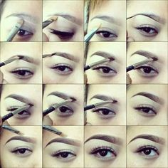Perfect faded eyebrows. Gradient eyebrows. Pictorial