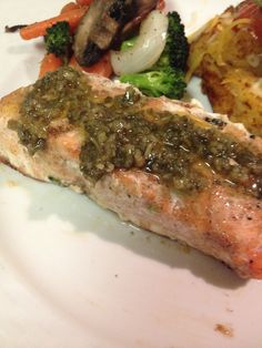 Sweet & Spicy Grilled Salmon with Chimichurri