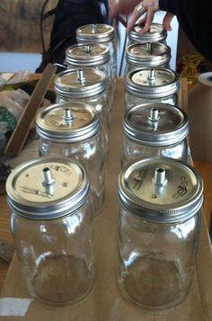 diy chandelier wiring Mason Jar Chandelier, Wheel Chandelier, Diy Chandelier, Mason Jar Lighting, Jar Lamp, Mason Jar Light Fixture, Chandeliers, Diy Luminaire, Luminaire Design