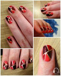 Red Mosaik Nails