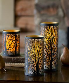 Look what I found on #zulily! Tree Laser-Cut LED Candle - Set of Three #zulilyfinds