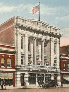 Postcard depicting the Alton Masonic Temple, from the Illinois Lodge of Research's online museum.  Year unknown, but it looks like early 1900s.