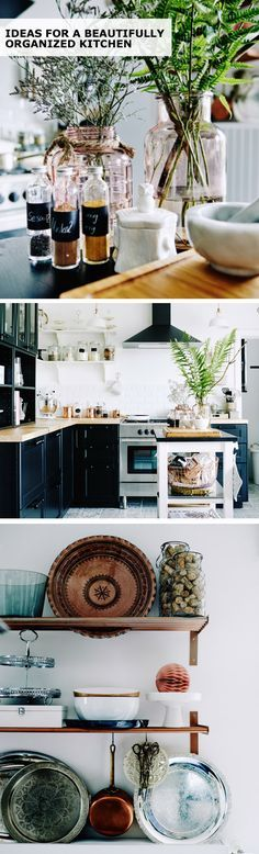 Create a functional and inspiring kitchen space to cook in with open and closed storage, a versatile kitchen cart, small customizations and labeling! Find IKEA ideas for a beautifully ordered kitchen. Photography by Michael Sinclair. Styling by Ashlyn Gibson.