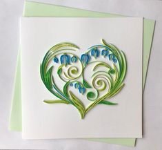 Your place to buy and sell all things handmade Neli Quilling, Quilled Roses, Quilling Comb, Paper Quilling Flowers, Paper Quilling Cards, Paper Quilling Patterns, Origami And Quilling, Quilling Flower Designs, Handmade Greetings