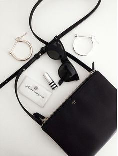 This Celine bag looks a lot like our Handbag Butler charging crossbody! Charge your phone on the go with the convenient little purse that houses a battery to keep you fully charged 24/7! // Shop now at www.arcoavenue.com.