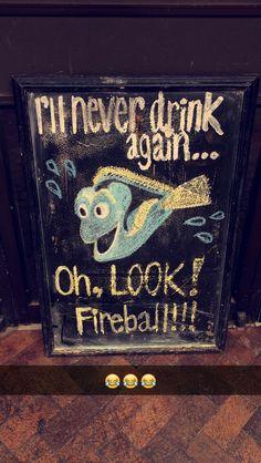 finding nemo - dory bar sign!  #bar #sign #chalkboard
