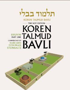 Koren Talmud Bavli, Vol.4: Tractate Eiruvin, Part 1, Noe Color Edition, Hebrew/English by Rabbi Adin Steinsaltz. Save 34 Off!. $32.97. 400 pages. Publication: January 20, 2013. Publisher: Koren Publishers Jerusalem; Standard ed edition (January 20, 2013)