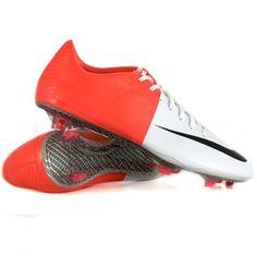 Nike - Mercurial Vapor VIII FG Bianca   Solar Red - Scarpe calcio 3be984b573668
