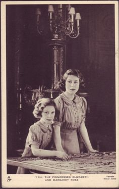 Elizabeth and Margaret  (QUEEN ELIZABETH AT A YOUNG AGE)
