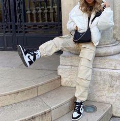 air jordan, beige, and casual #Nike #Air #Jordan #Nike #Fashion #Shoes #NikeShoes #Sneakers #Activewear #ShopTheLook Jordan Outfits Womens, Nike Outfits, Teen Fashion Outfits, Look Fashion, Outfits With Jordans, Nike Fashion Outfit, Fashion Shoes, Sneaker Outfits Women, Sneakers Fashion
