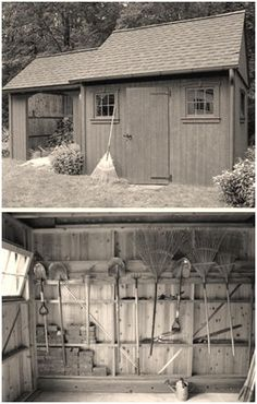 Free, DIY Project Plans for a Colonial Style, Two-In-One Shed from Popular Mechanics Magazine