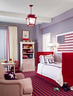A patriotic child's room....