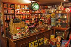 vintage candy store...looks like my gramma's store