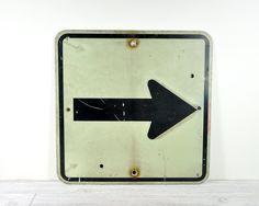 Vintage Road Sign / Street Sign / Industrial Decor. $38.00, via Etsy.